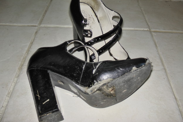 shoes worn out